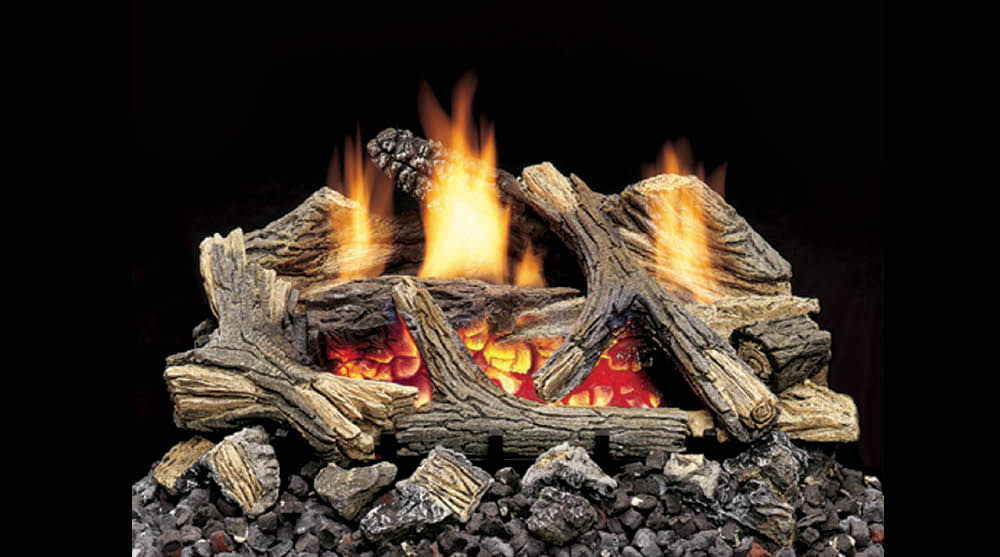 Vent Free Gas Log Set Aged Hickory Heritage Fireplace